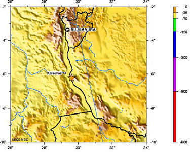 Lake Tanganyika On A Map Of Africa.Geotimes December 2005 Earthquake Shakes East Africa