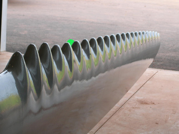 A Whalepower 'Tubercle Technology' turbine blade