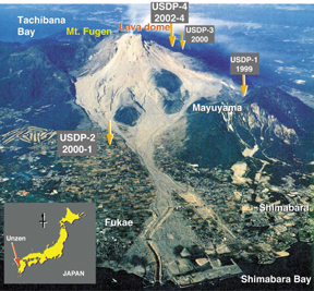 Geotimes March 2004 Looking Into A Volcano Drilling Unzen