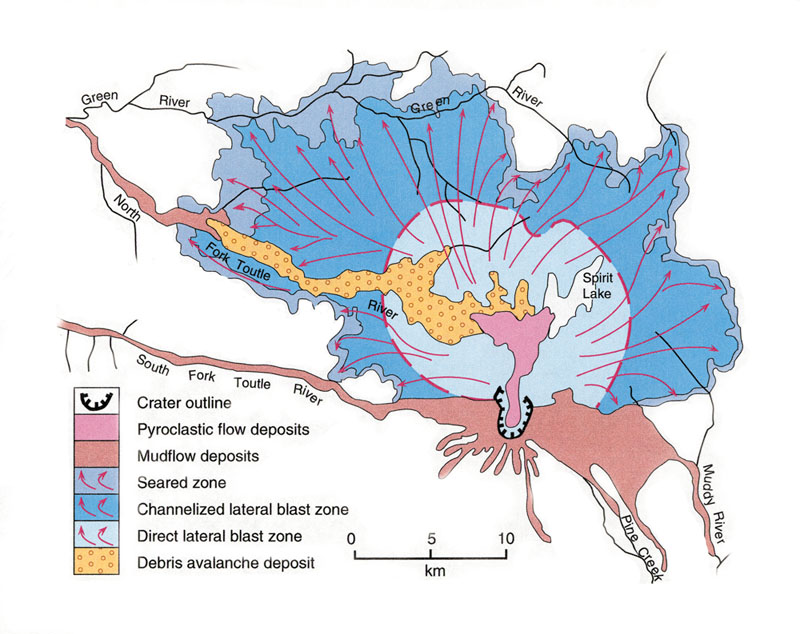 Map - Mount saint helens on us map